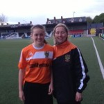 New Signing Sarah Connolly welcomed to Mid Ulster by Chairperson Elaine Junk