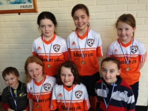 u11 with their medals