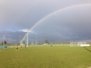 Tell Ma to take a team photo and what do you get a rainbow!!!