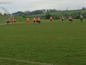Mid Ulster line up to defend the corner.