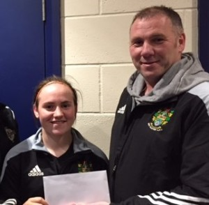 Darryll presents sponsorship for the game